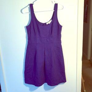 Ann Taylor LOFT sleeveless purple dress size 0